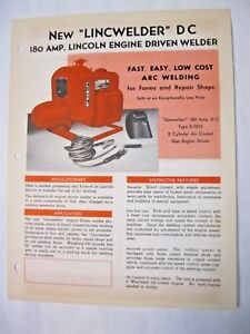 Lincoln 180 Amp Engine Driven Dc Welder Brochure