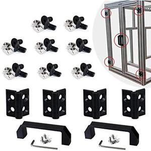 2 Sets 2020 Aluminum Extrusion Profile Slot 6mm Door Handle Frame Hinges Install