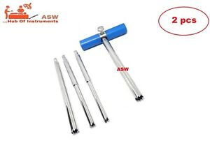 2 Pcs Set Of Hollow Mill Removal Of Bone Screws Extractor Orthopedic Instrument