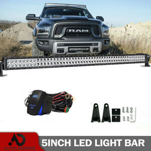 Dualrow 54 Inch 312w Curved Led Light Bar Combo Offroad For 02 08 Dodge Ram 1500