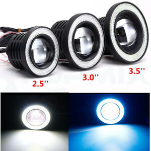 2 5 Led Cob Projector Fog Driving Lamp Angel Eye Halo Ring Drl Daytime Light