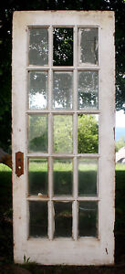 32 X79 Antique Vintage Wood Exterior Entry French Door Window Beveled Glass Lite