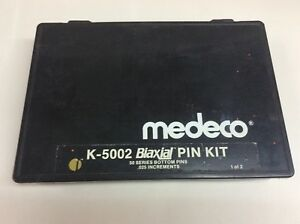 Medeco K 5002 Biaxial Pin Kit 10 And 50 Series Pins Wafers Locksmith Two Box Set