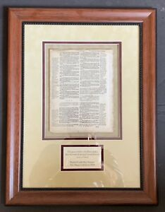 Framed 1500s Geneva Bible Page Word Of Our God Stands Forever 1 Corinthians V