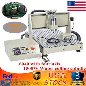 4 Axis 6040 Cnc Router Engraver Machine Engraving Carving Metalworking 1 5kw Vfd