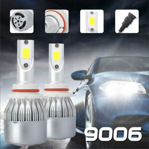 2x 9006 Hb4 Led Headlight Bulb Kit Low Beam 6000k 60w 7600lm White Light Bulbs