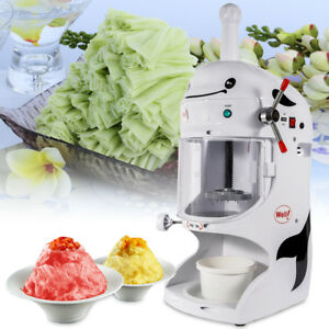 110v Ice Shaver Machine Snow Cone Maker Shaved Icee Electric Crusher Commercial