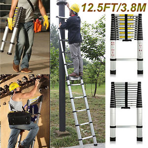 12 5ft Multi Purpose Auminium Folding Telescopic En131 Extendable Ladder Steps