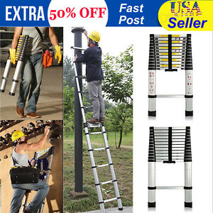 12 5ft Multi Purpose Telescopic Aluminium Ladder Heavy Duty Portable Home Loft