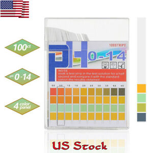 100pcs Test Paper Water Litmus Tester Urine Saliva Ph Indicator Test Strips New