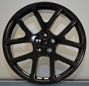 4 20 Awd Viper Gloss Black Charger Magnum 300c Wheels Rims Set Dodge