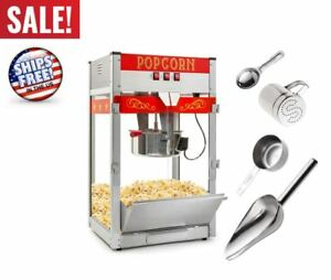 Popcorn Machine Maker Commercial Popper Stainless Movie Theater Gift 12 Ounce