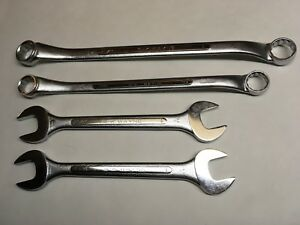 Lot Of 4 S k Wayne Usa Wrenches B 3032 B 2628 0 3032 15 16 1 13 16 7 8