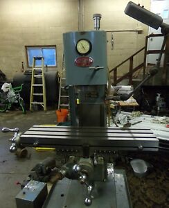 Clausing 8512 Vertical Mill Milling Machine 8520 Variant Raytheon Water Jet
