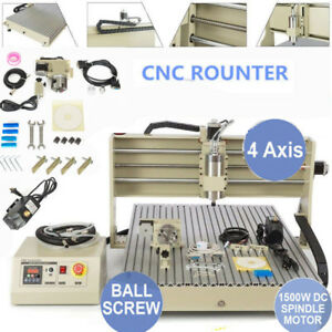 Usb Port 6090 1500w Spindle 4axis Cnc Router Engraver Engraving Drilling Machine