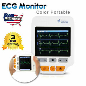 Heal Force Handheld Color Ecg Ekg Monitor lead Cables 50pcs Electrodes Health
