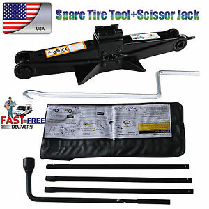 For Chevy Gmc Silverado Sierra Spare Tire Tool Kit New With Case 2t Scissor Jack