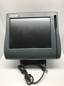 Micros Workstation 4 System Ws4 Unit 500614 001 Pos Touchscreen With Stand