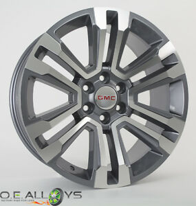 22 2018 2017 Gmc Yukon Xl Denali Wheels Rims Sierra 1500 Midnight Silver Chevy