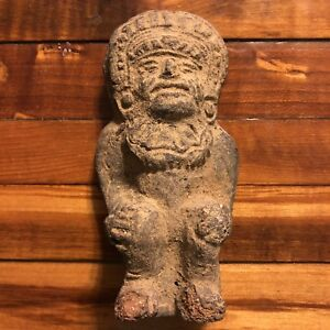 Rare Pre Columbian Mayan Artifact Antiquity Pottery Central America God Natives