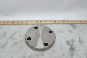 Lot Of 4 Blind Flange Welded 1 1 2 Pipe Size 304 Stainless Steel