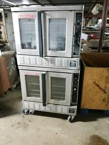 Blodgett Dfg 200 Gas Double Deck Convection Oven Bakery Depth Used
