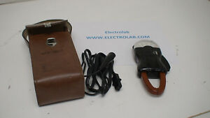 Weston 749 Clamp On Ammeter Volt Meter Leather Case Manual Leads 3 Pins
