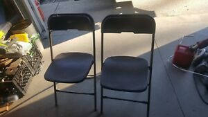 Lot Of 20 Used Commercial Stackable Folding Chairs Brown In Color