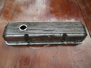 One Single Cal Custom 9 Finned Aluminum Valve Cover 40 1018 Used Needs Rechromg