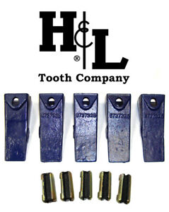 6737325 Bobcat Style Skid Bucket Tooth 6737326 Flexpin By H l 1 Or 5 Pack