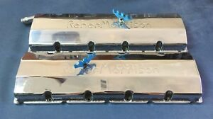 Reher Morrison Fabricated Aluminum Valve Covers Billet Rails Bbc 5 3 Bore Space