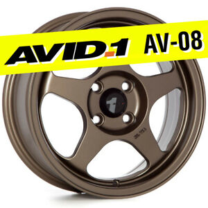 Avid 1 Av 08 15x6 5 Bronze 4x100 35 Wheels Set Of 4 Spoon Style Jdm Rims