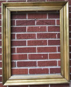 Antique American Victorian Lemon Gold Large Picture Frame 20 X 26 In Fit C1860s