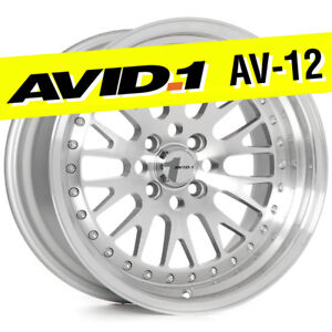 Avid 1 Av 12 16x8 Silver Machined 4x100 4x114 3 25 Wheels set Of 4 Classic