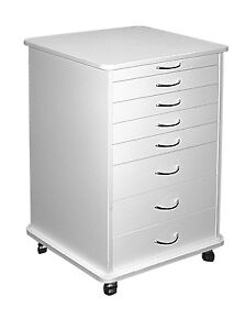 Medical Dental Equipment 7 drawer Doctors Mobile Cabinet Cart White