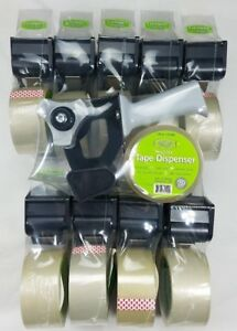 Tape Gun Dispensers With Packing Tape 2 lot Of 10 Easy Hold Handle New