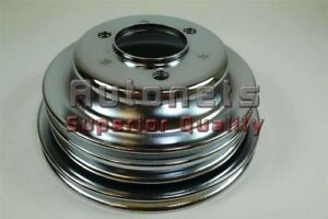 Chrome Bbc Chevy Crank Shaft Pulley Long Water Pump 3 Groove Big Block Chevy Lwp
