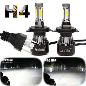 H4 Hb2 9003 2000w 320000lm 4 Side Led Headlight Cree Car Kit Hi Lo Bi Bulb 6500k