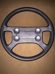 Oem Mk1 Mk2 Vw Gti 4 Button Steering Wheel Euc