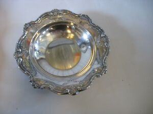 Gorham Chantilly Silverplate Round Bon Bon Candy Side Dish Bowl 6 1 4 Yc1310
