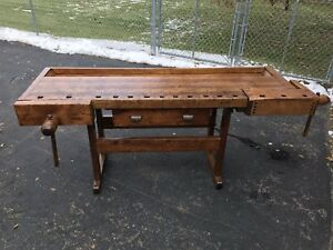 Antique Woodworkers Work Bench Late 1800 S Profesh Restored Shipping Available