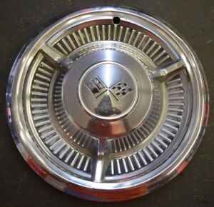 Vintage 1958 Chevy Impala Belair Biscayne Spinner 14 Hubcap Wheel Cover