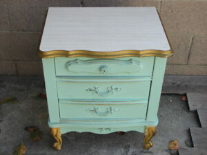 Antique Vintage Furniture Bonnet By Sears Dresser Nightstand French Provincial