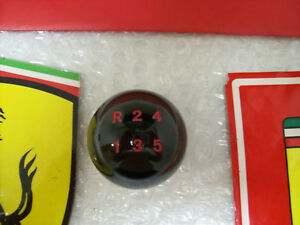 Ferrari Shift Knob Gloss Black Red Numbers 328 Gts 288 Gto 512 Bb Testarossa