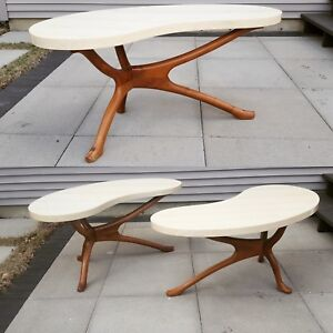 Vladimir Kagan Style Coffee Tables Mid Century Modern 6 Available