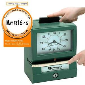 Acroprint 011070413 Model 125 Analog Manual Print Time Clock With