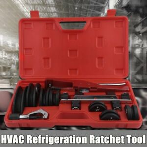 Hvac Refrigeration Ratchet Tubing Bender Soft Copper Aluminum Tube W Carry Box