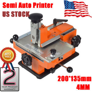Semi Auto Deboss Metal Label Embosser Dog Tag Stamping Printer Marking Machine