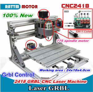 Grbl Usb 2418 Mini Cnc Router Kit Milling Pvc Pcb Laser Machine With Er11 Collet