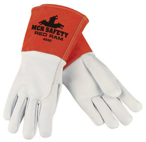 Memphis 4840l Red Ram Mig tig Goatskin Welding Gloves Size Large 12 Pair